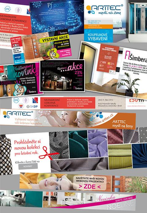 ukázky prací: webové bannery