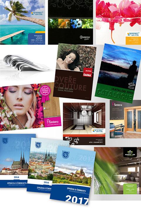 ukázky prací: katalogy | tištěná prezentace