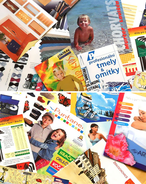 ukázky prací: katalogy | tiskoviny | billboardy