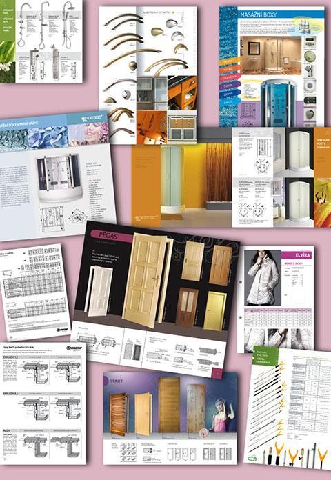 ukázky prací: ceníky | prezentace produktů